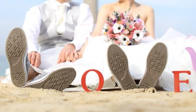 結婚式の前撮りアルバム